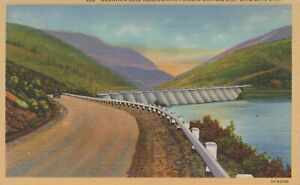 Lincoln Highway Enters Salt Lake City Utah Rocky Mts Vintage Linen Post Card