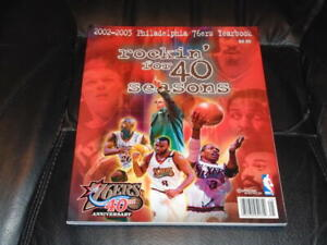 2002 2003 PHILADELPHIA 76ERS NBA BASKETBALL YEARBOOK ALLEN IVERSON NR MINT