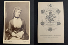 Downey, Londres, Eugénie de Montijo, impératrice CDV vintage albumen print.