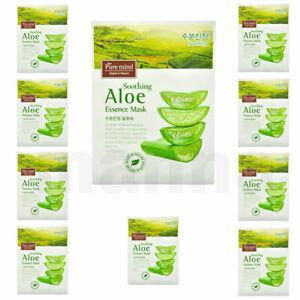 "10 pcs ""Aloe Vera"" Essence Sheet Face Mask Packs"