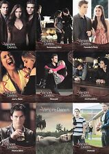 THE VAMPIRE DIARIES SEASON 1 2012 CRYPTOZOIC COMPLETE BASE CARD SET OF 63 TV