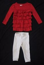 Infant Girls CRAZY 8 Shirt & CHILDRENS PLACE Legging Pants Outfit 12-18 months