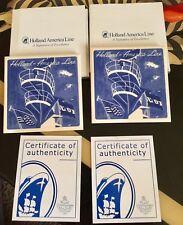 Holland American Line Blue Delft Ceramic Tile Coaster