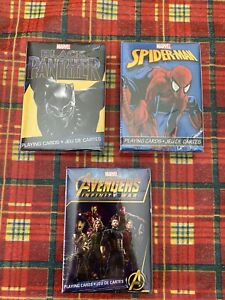 Marvel Playing Cards Set Spider-Man Avengers Black Panther 3 Deck Of Cards