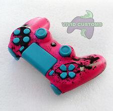 Custom Modded Playstation 4 Dualshock Wireless PS4 Controller - Pink Spatter