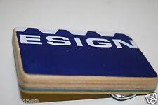 """Vintage Blue Wooden Skateboard Deck Skater Custom Belt Buckle """"design"""" Rare"""