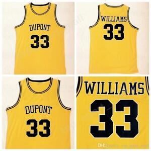 Men 33 Jason Williams Jersey High School Dupont Basketball Jerseys All Stitched
