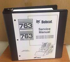 Bobcat 763 763 HF Service Manual Book Skid steer 6900091 repair shop book