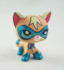 Littlest Pet Shop Super Hero Masked Kitten Short Hair Kitty Cat LPS Blue Eye Toy