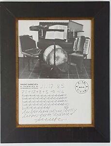 HANNE DARBOVEN Unikat Original - Zeichnung, handsigniert, Tageszettel, 1985 Drum