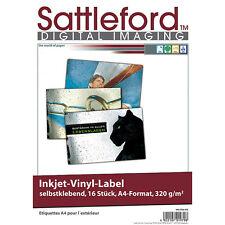Sattleford 16 Vinyl-klebefolien A4 für Inkjet weiß