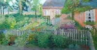 Flower Garden house home bloom painting Impressionism Landscape Oil Painting