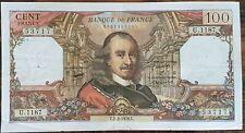 Billet de 100 francs CORNEILLE 2 - 3 - 1978 FRANCE U.1187