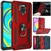Shockproof Armor Case Ring Holder Cover For Xiaomi Redmi Note 9S 9 8 7 Pro 9A 9C