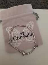 Sterling Silver 925 Chrysalis Bracelet & Stoppers X2 With Official Bag