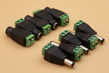 5Pairs 5.5 x 2.1mm DC Power Male and Female Jack Plug Adapter For LED Strip