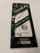 DYNA GRIP CABRETTA MEN'S LEFT HAND WHITE LEATHER GOLF GLOVE UNLINED SIZE SMALL