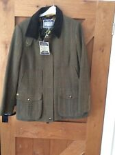 JOULES FIELD COAT MR TOAD TWEED SIZE 18 BNWT FOX BUTTON