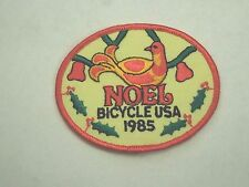 Vintage 1985 NOEL Bicycle USA Iron On Patch- Partridge in a Pear Tree Image