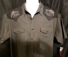 Rock Steady Hard Luck Western Rockabilly Shirt XL With Guns Embroidery Punk Rock