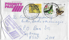 1985 BROOKLYN PARK SA priority paid commercial cover Postmark butterfly frog