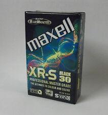 MAXELL XR-S Black 30 S-VHS-C CASSETTA NUOVO, CONFEZIONE ORIGINALE