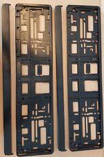 Kennzeichenhalter/Nummernschildhalter Neu-2X Schwarz- Hochglanz Super Qualität