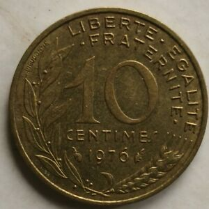 France 1976 10 Centimes coin