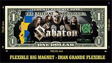 SABATON power metal IMAN BILLETE 1 DOLLAR BILL MAGNET