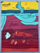 Affiche ancienne originale 1987 - ADAMI- Hommage à FERRARI -