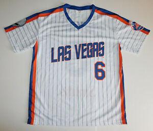 NWOT LAS VEGAS 51s #51 Aviators NY Mets Wally Backman #9 SGA Baseball JERSEY XL