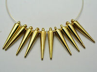 100 Silver Tone Acrylic Spike Charm Pendants 34mm For Basketball Wives Earring