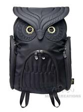 Owl LARGE BLACK 3D backpack MORN CREATIONS bag guardian legend hoot hooter