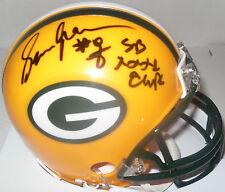 """Packers SEAN JONES Signed Riddell Mini Helmet AUTO w/ """"XXXI Champs"""""""