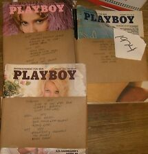 Vintage Playboy  Magazine   1974-JANE FONDA,EASTWOOD  8 issues