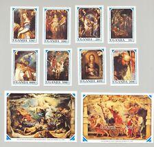 Uganda #845-854 Rubens Art Christmas 8v & 2v S/S Imperf Proofs