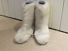 Pollini Fur Eskimo Type apres ski boots never worn UK 7