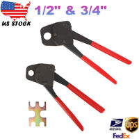 "2 Pex Crimper 1/2"" And 3/4"" Plumbing Crimping Set Angle Gauge Tools Combo"