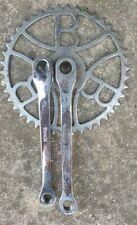 VERY RARE vintage old crankset BIANCHI for pedals old Bike EROICA steel