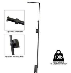 BLACK Hybrid T5HO Light Fixture Hanger - 10 lb Max - Aquatic Life