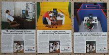 3 x  Texas Instruments Computer Software  Magazine Print Ads 1983