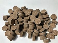"""Cork Rings 100 Mixed Brown Rubberized #33,  1 1/4"""" x 1/2"""" Solid, Blowout!"""