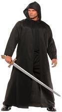 Adulto Negro Piel Sintética Capa Renacimiento Medieval Gótico Disfraz UR28671