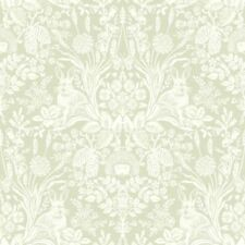 Harlen Sage Green Woodland Wallpaper - Hedgehogs and Rabbits by Holden 90162