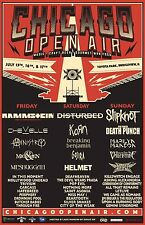 CHICAGO OPEN AIR 2016 CONCERT TOUR POSTER: Rammstein, Disturbed, Slipknot, Korn