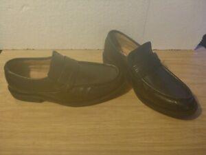 Clarks Mens Black Slip on Leather Shoes (UK Size 9.5) *New*