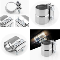 """2.0"""" Lap Joint Exhaust Band Clamp-Preformed Stainless Steel For Catback Muffler"""