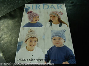 Sirdar Snuggly Baby Crofter Chunky Knitting Pattern 4781  Birth to 7 Years