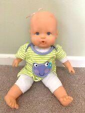 "Famosa 12"" Nenuco Baby Doll  w/ Frog Dress Green Stripes No Bottle"