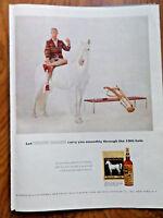 1956 Whiskey White Horse Ad 19th Hole Golfing 1956 Coca-Cola Coke Ad